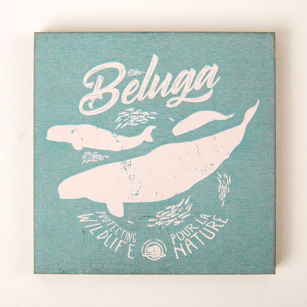 Beluga Wooden Coasters
