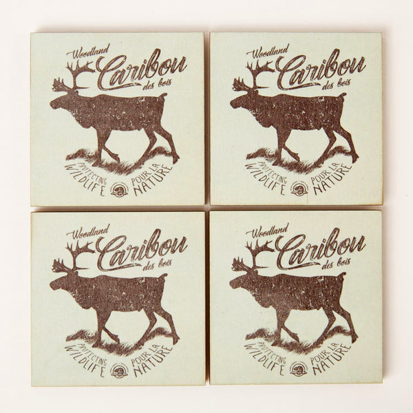 Caribou Wooden Coasters