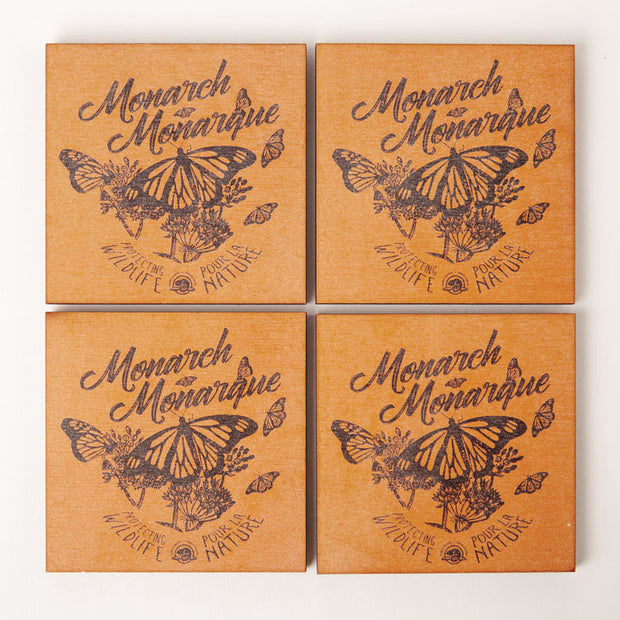 Monarch Wooden Coasters