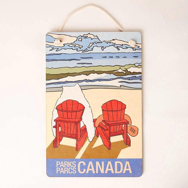 Castor and Pollux Red Chair View Sign