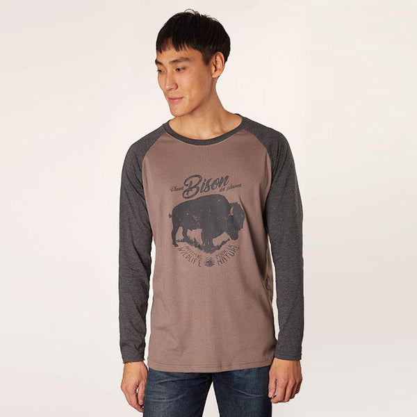 Men's Bison Baseball Shirt