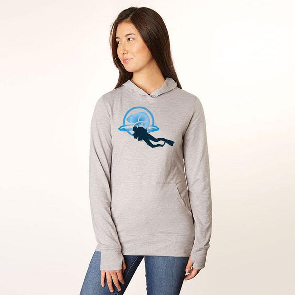 Women's Lightweight Hoody Just for Divers