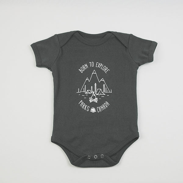 Born to Explore Baby Onesie- English