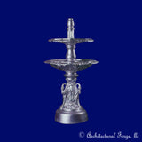 2 Tier Swan Fountain with Hex shaped Fountain Bowls