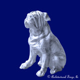 Aluminum Bulldog Sculpture Garden Decor