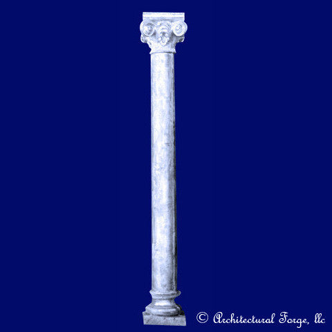 Column - Scroll Column Landscape Sculpture