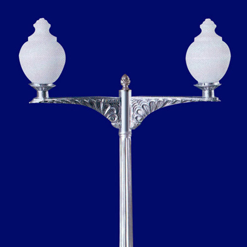 2 arm seashell light post quality lighting fixtures architectural