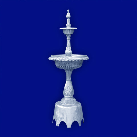 3-Tier Aluminum Landscape Fountain with Arches