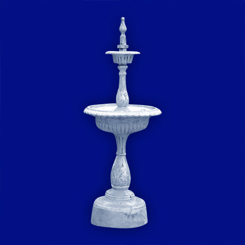 2 Tier Aluminum Fountain with Hexagon Bowls with Arches