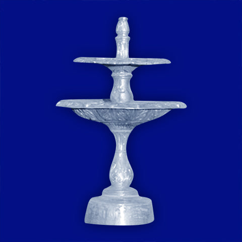 2-Tier Swan Aluminum Landscape Fountain