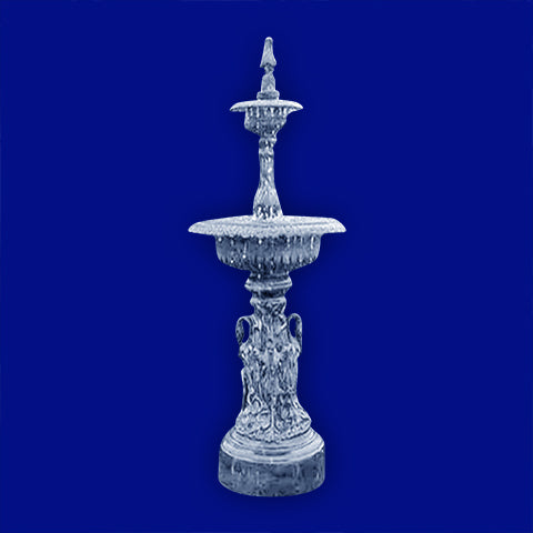 2 Tier Aluminum Swan Fountain
