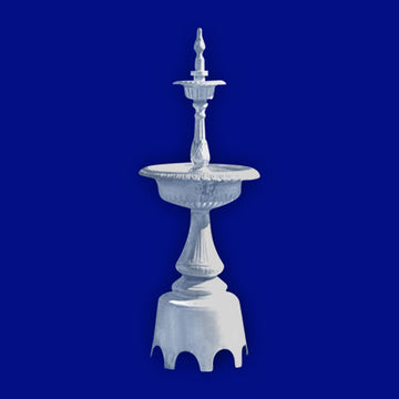 4 Tier Swan Aluminum Fountain with Arches