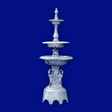 3 Tier Aluminum Swan Fountain with Arches
