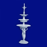 4 Tier Aluminum Mermaid Fountain
