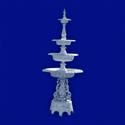4 Tier Aluminum New Swan Fountain