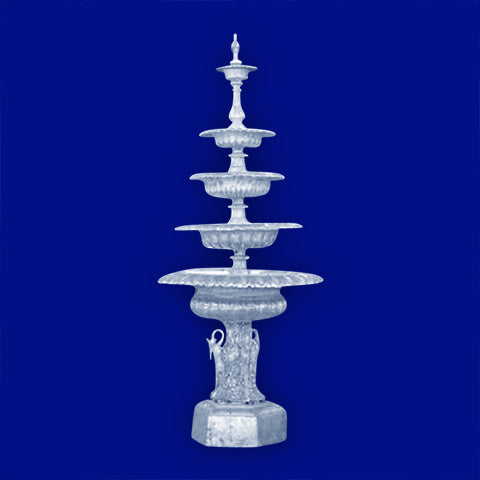 5 Tier Aluminum Swan Fountain