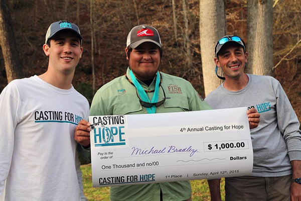 Casting For Hope fly fishing competition winner Michael Bradley