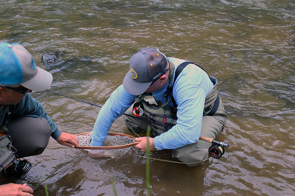 Mike Smith fly fishing guide New River. Martin Bawden trout