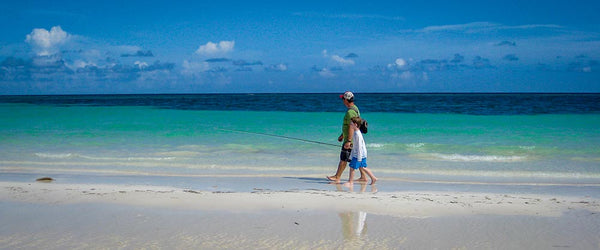 Bahamas fly fishing beach