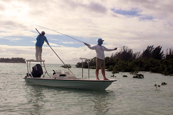 Martin Bawden fly fishing Bahamas
