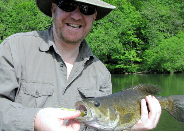 Martin Bawden, smallmouth caught on Crafty Deceiver