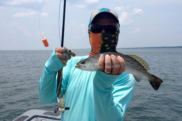 Mike Smith speckled trout Fish-Skull Pop-N-Fly