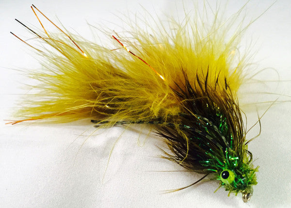 Tips Up jig-style fly created and tied by Kelly Galloup. Photo by Gunnar Brammer.