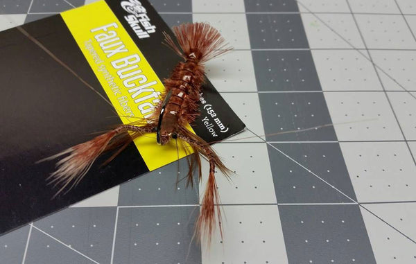 Fish-Skull Faux Bucktail fly tying contest winner Steve Yewchuck