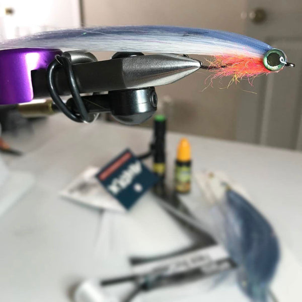 Fish-Skull Faux Bucktail fly tying contest winner Daniel Seaman