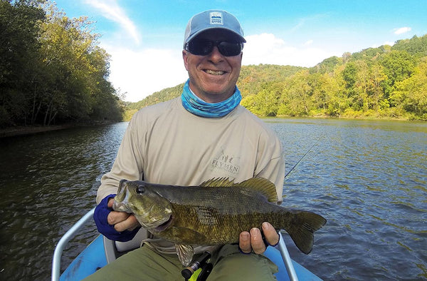 Mike Smith smallmouth bass on streamer