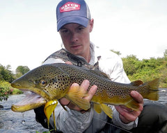 Rich Strolis with brown trout