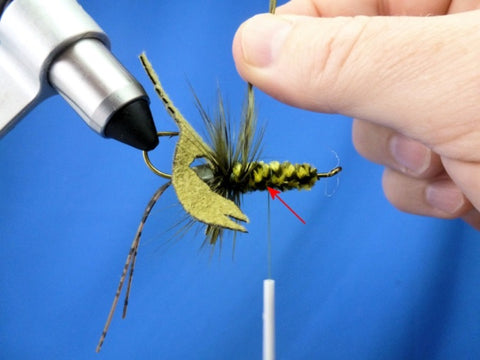 Fish-Skull Skull Daddy Crayfish fly tying instructions step 13