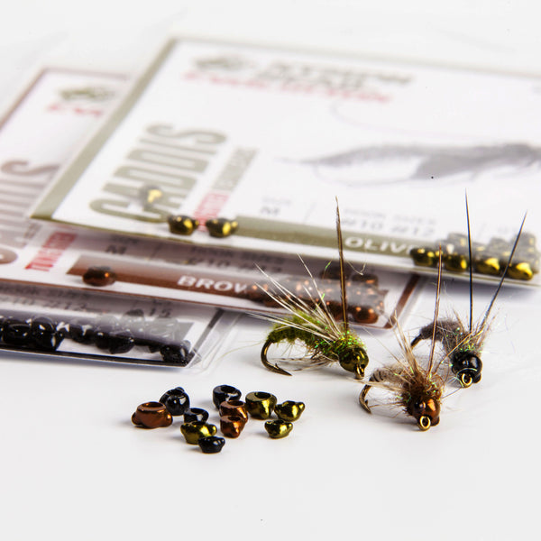 Nymph-Head® Evolution™ Caddis tungsten beadheads - Flymen Fishing Company  - 1
