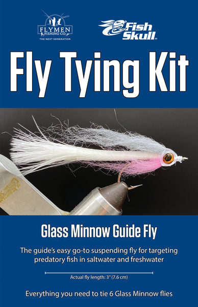 NEW Fly Tying Kit: Fish-Skull Glass Minnow Guide Fly