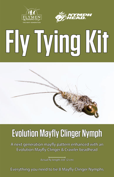 NEW Fly Tying Kit: Nymph-Head Evolution Mayfly Clinger Nymph