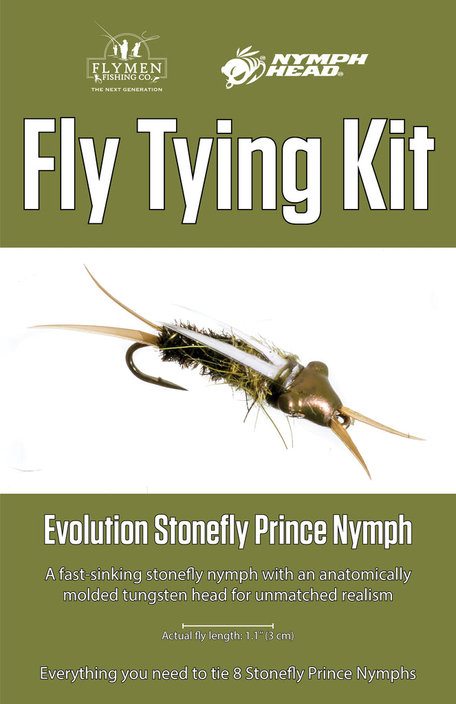 NEW Fly Tying Kit: Nymph-Head Evolution Stonefly Prince Nymph