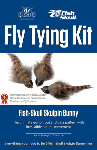 NEW Fly Tying Kit: Fish-Skull Skulpin Bunny