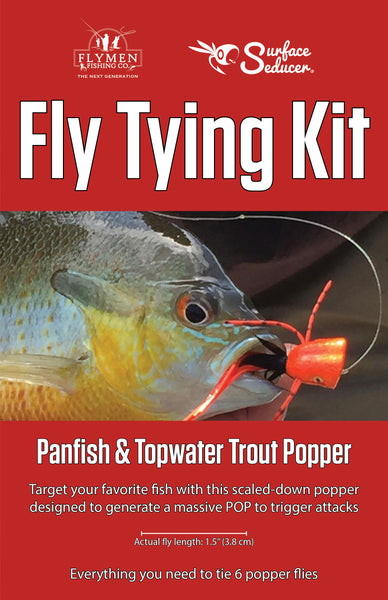 NEW Fly Tying Kit: Surface Seducer Panfish & Topwater Trout Popper