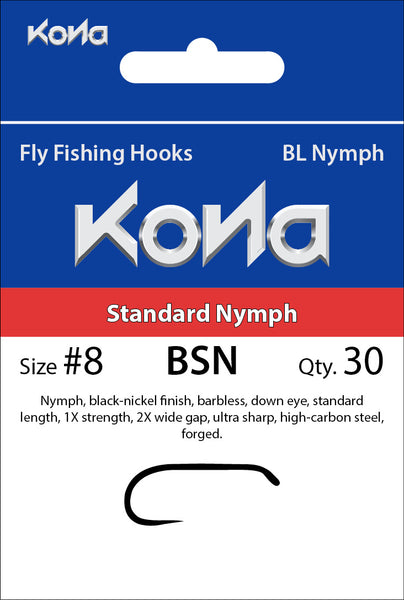 Kona Barbless Standard Nymph (BSN) hook