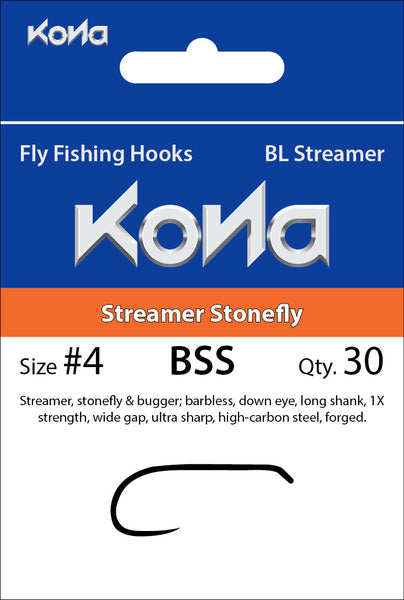 Kona Barbless Streamer Stonefly (BSS) hook