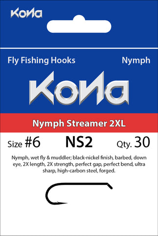 Kona Nymph Streamer 2XL (NS2) hook