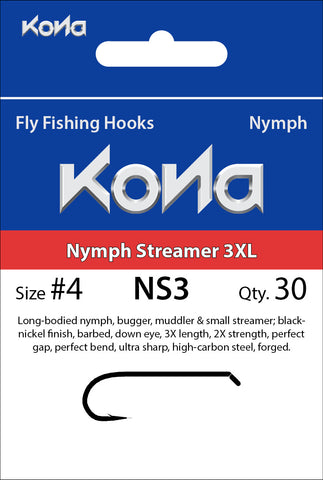 Kona Nymph Streamer 3XL (NS3) hook