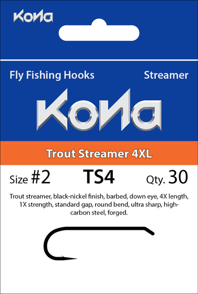 Kona Trout Streamer 4XL (TS4) hook