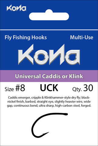 Kona Universal Caddis or Klink (UCK) hook
