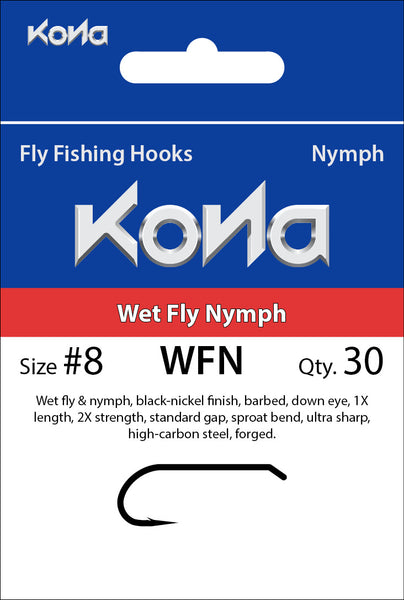 Kona Wet Fly Nymph (WFN) hook