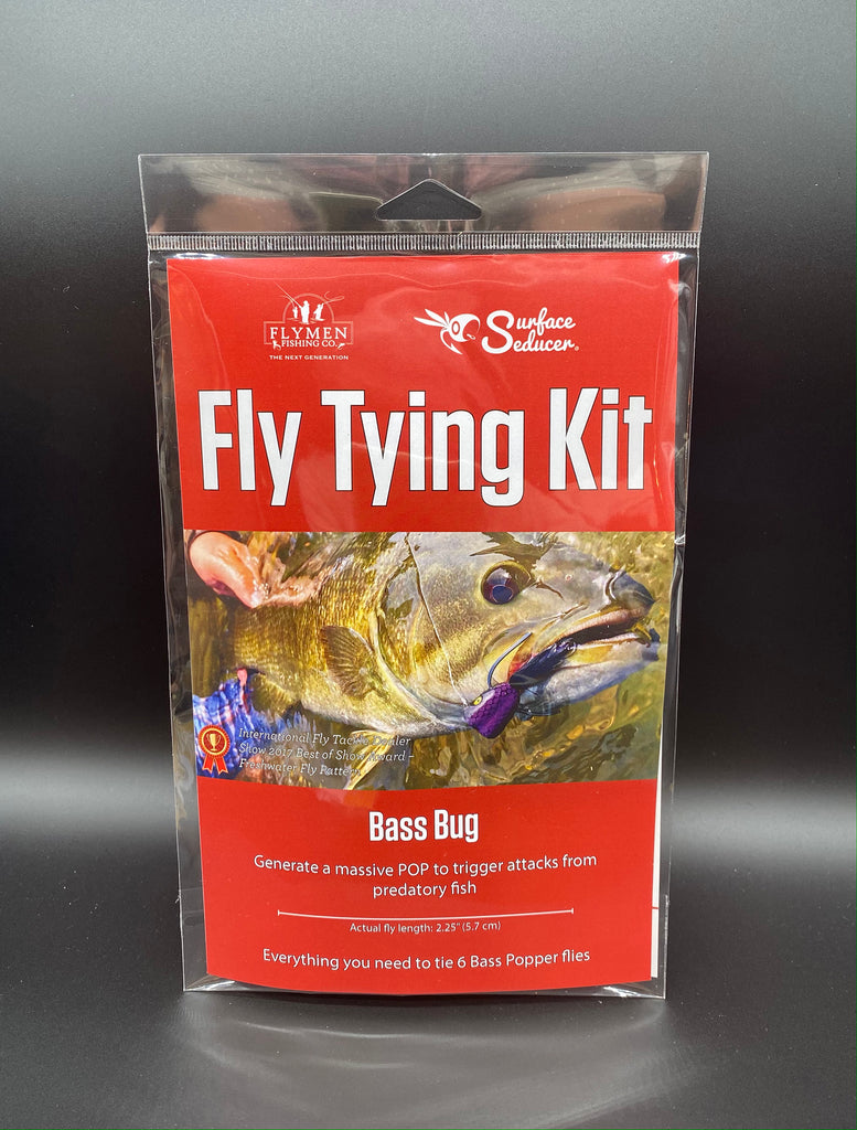 fly tying kit double barrel bass bug surface seducer