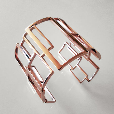 'Blush' Rose Slim Cuff