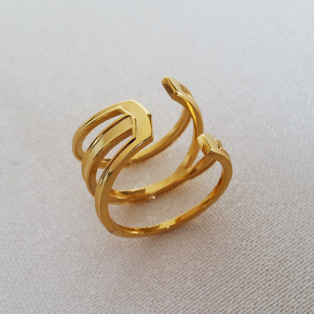 Louven jewelry, gold ring, ring