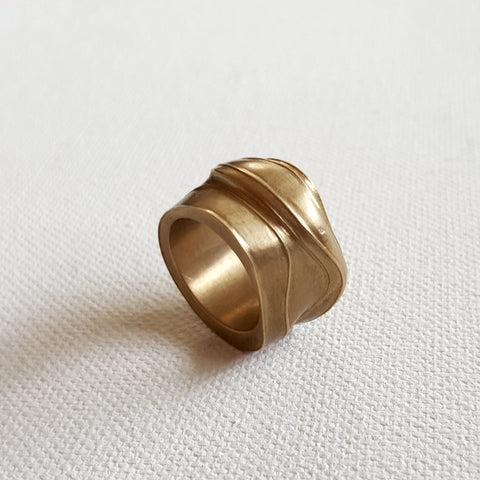 'Flow' Brass Ring