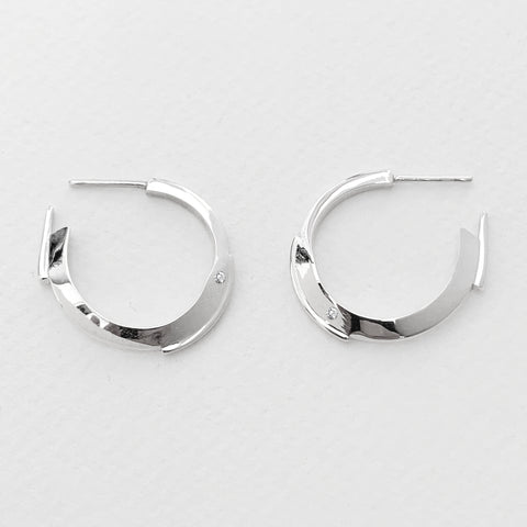 'Lumina' Silver Mini Hoops